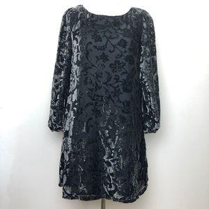 Bb Dakota RSVP velvet floral print dress size 2